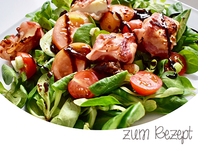 salat mit bacon