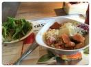 Vapiano - Bruschetta & Salat mit Lachs