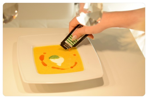 Kürbiscremesuppe mit Chilliöl