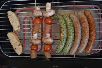 verschiedene Grillido's auf dem Grill